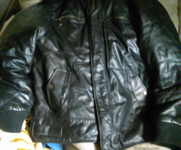 Кожаная мужская куртка.кожа настоящая.. Фото 2. Ростов-на-Дону.