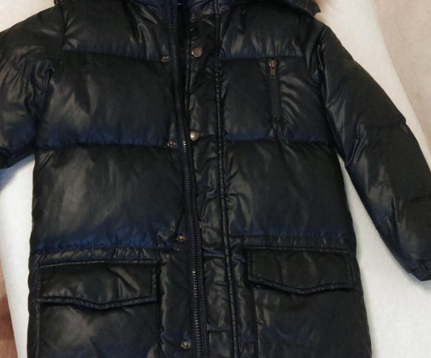 Пальто пуховое на мальчика. Фото 1. Москва.