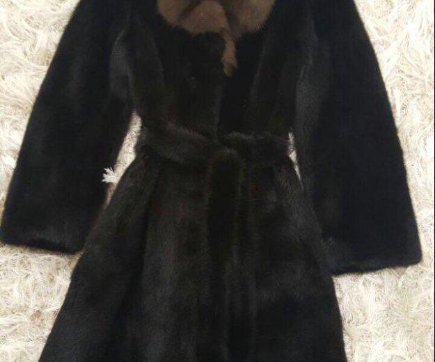 Шуба норковая с соболиным воротником. Фото 1. Москва.