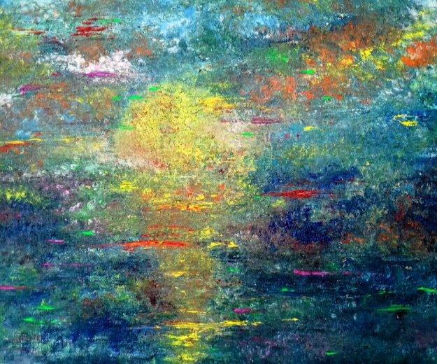 """Картина маслом """"закат во сне"""" 60×80. Фото 1. Реутов."""
