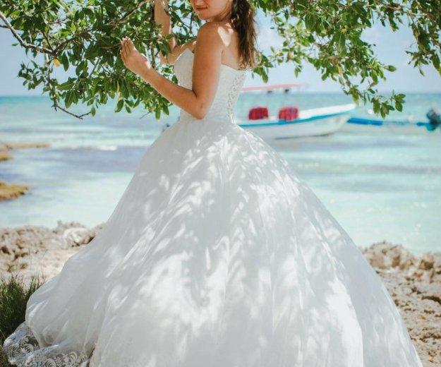 Красивое пышное свадебное платье. Фото 3. Краснодар.