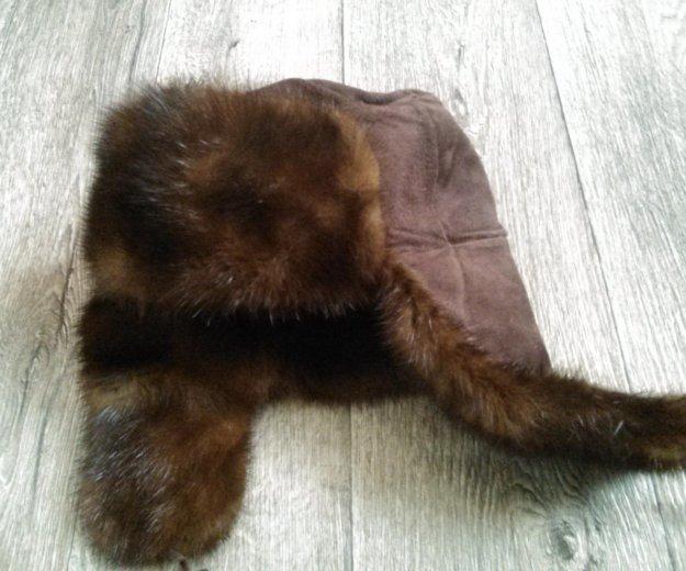 Норковая шапка ушанка. Фото 1. Таганрог.