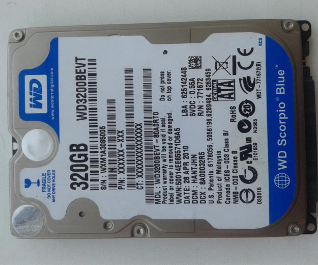 Жесткий диск для ноутбука 320 gb. Фото 1. Улан-Удэ.