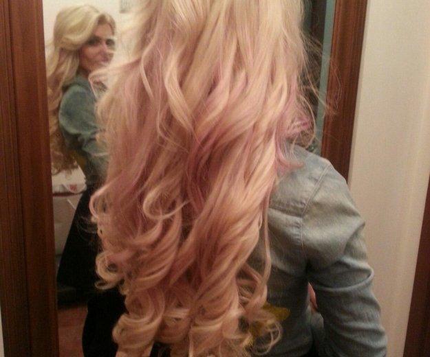 Наращивание волос блонд 60 см. Фото 1. Москва.
