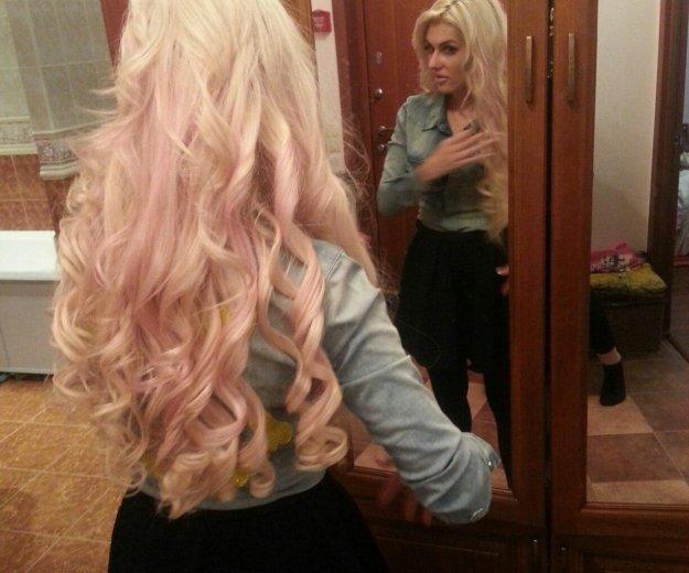 Наращивание волос блонд 60 см. Фото 2. Москва.