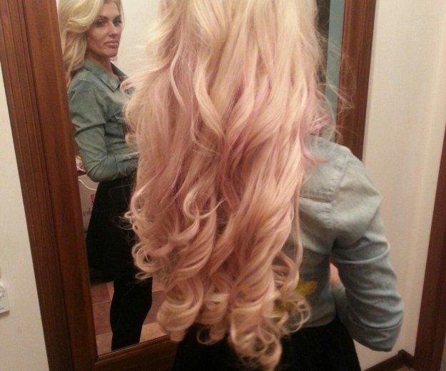 Наращивание волос блонд 60 см. Фото 3. Москва.