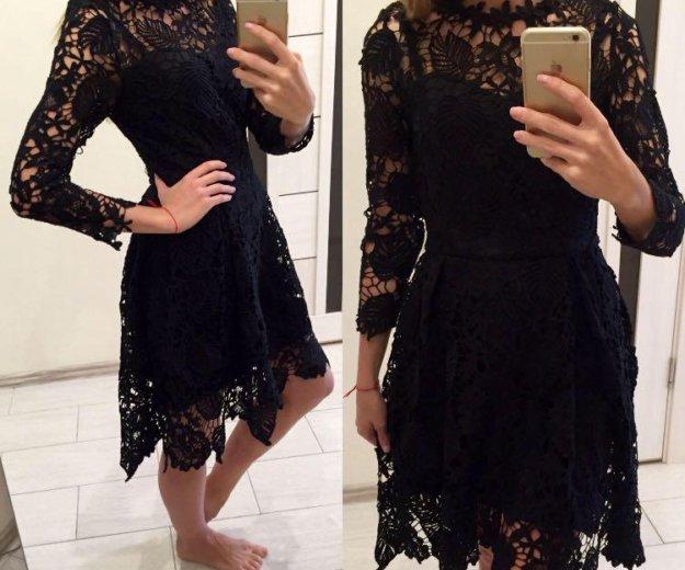 Новое кружевное чёрное платье. Фото 1. Москва.