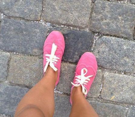 Женские кеды розово-коралловые. Фото 1. Химки.
