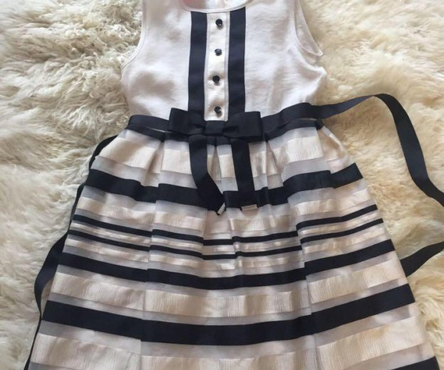 Платье нарядное шелк/хлопок. Фото 1. Химки.