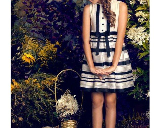Платье нарядное шелк/хлопок. Фото 2. Химки.