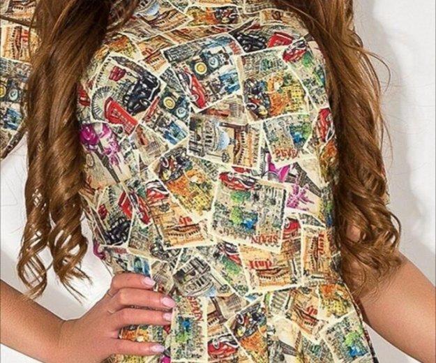 Платье миди с принтом фото. Фото 2. Тюмень.