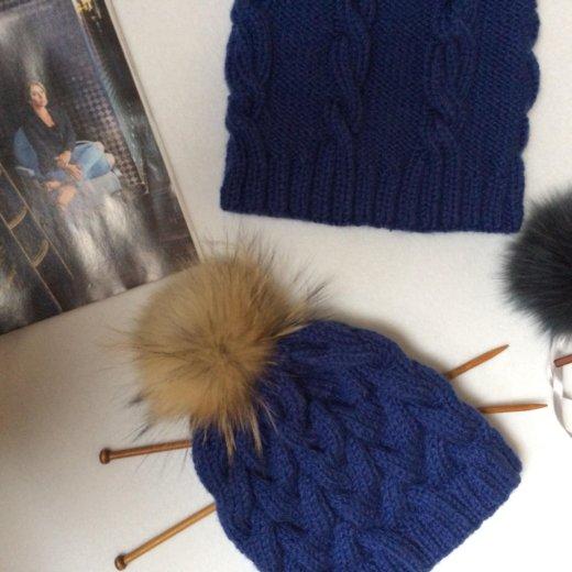 Комплект шапка +снуд. Фото 2. Бор.