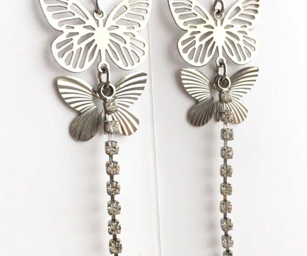 Серьги с бабочками. Фото 1. Сургут.
