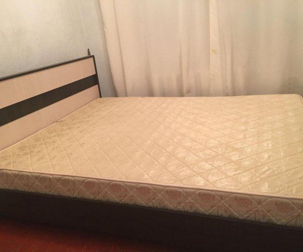Кровать + матрас. Фото 1. Гаджиево.