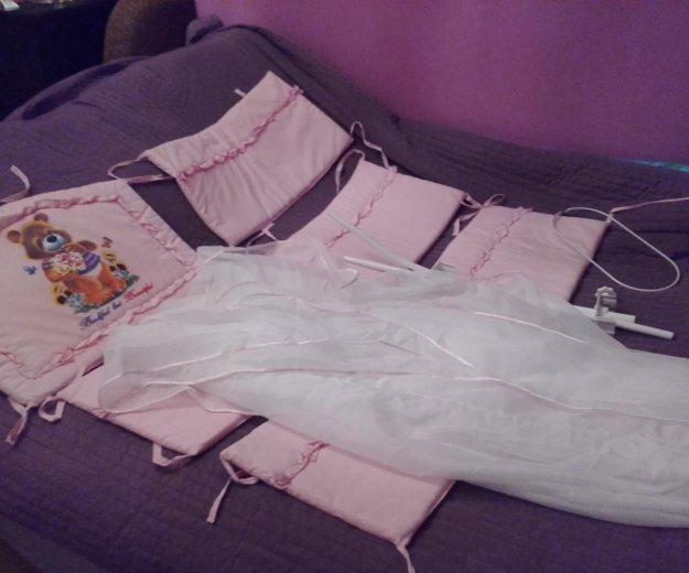 Набор в кроватку розовый. Фото 4. Химки.