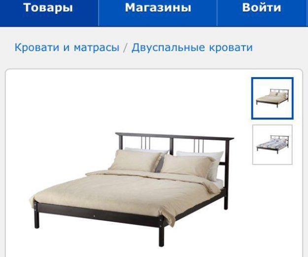 Кровать икеа с матрасом и реечным дном!. Фото 1. Раменское.