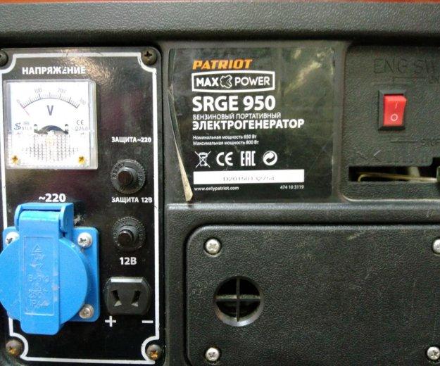 Генератор patriot srge 950. Фото 2. Москва.
