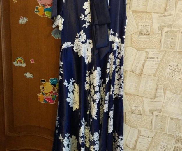 Платье атласное длинное 50.52. Фото 1. Санкт-Петербург.