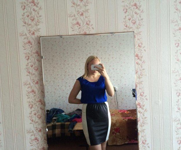 Новая юбка с кожаной вставкой. Фото 1. Санкт-Петербург.