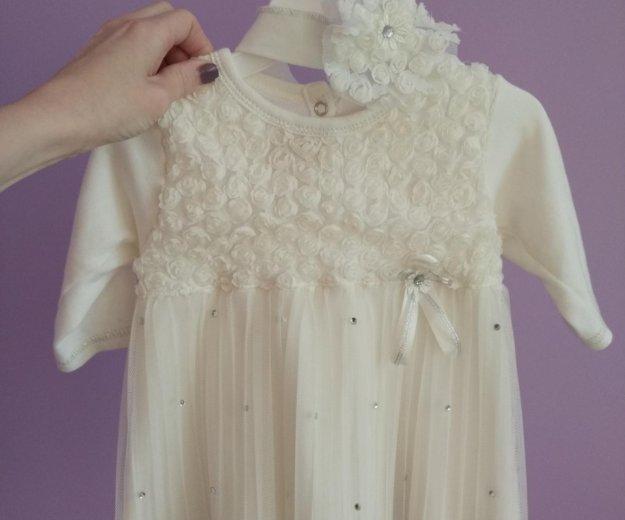 Платье 68-74 р с повязкой. Фото 1. Железнодорожный.