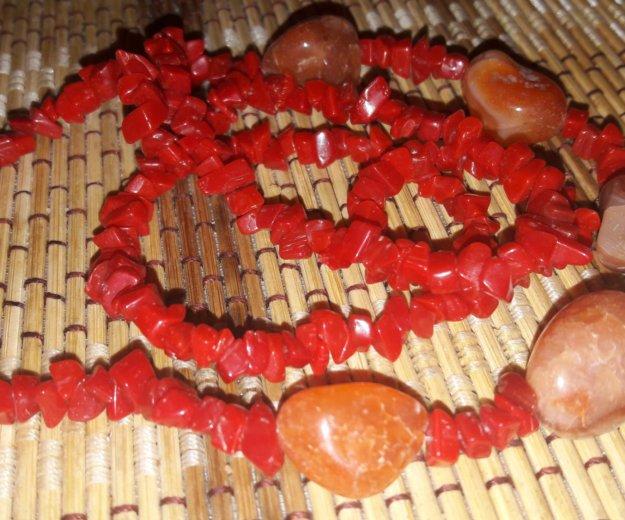 Симпатичные коралловые бусы с яшмой. Фото 1. Домодедово.