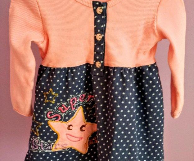 Платье,размер 74-80. Фото 1. Железнодорожный.