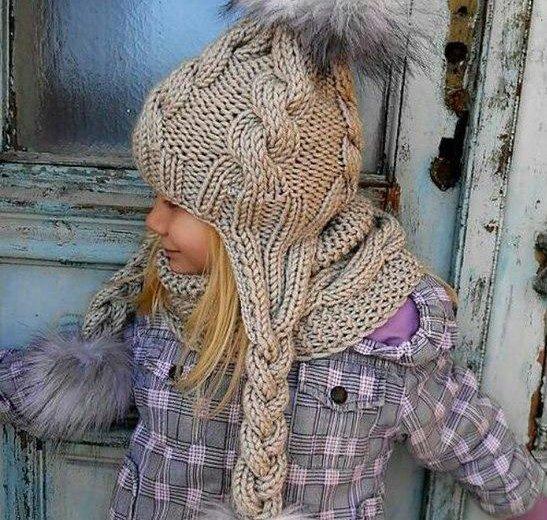 Вязаные шапки, шарфы, снуды, варежки ручной работы. Фото 2. Ставрополь.