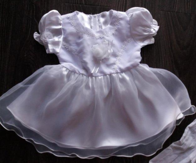 Платье нарядное + колготки новое. Фото 2. Омск.