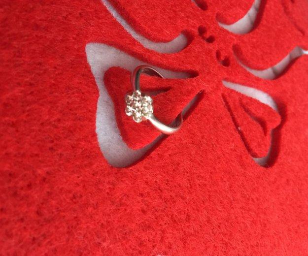 Кольцо с бриллиантом. Фото 1. Орел.