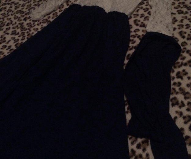 Вечернее платье в пол  гипюр+шифон. Фото 3. Набережные Челны.