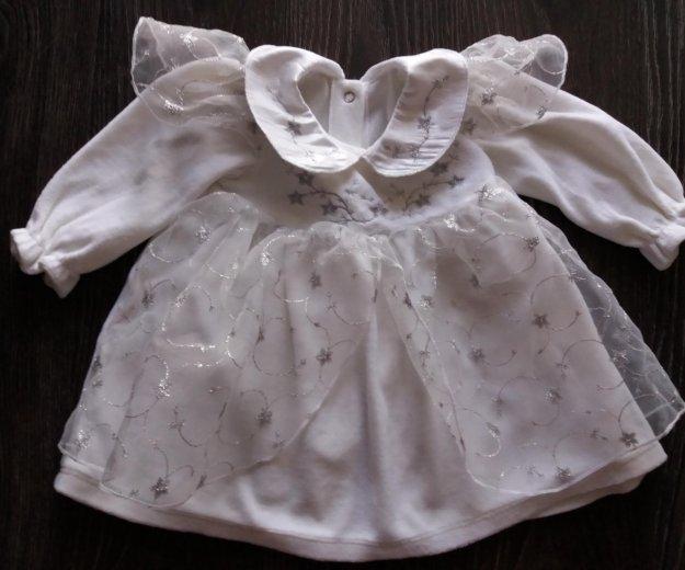 Платье нарядное для малышки, размер 68/74. Фото 1. Омск.