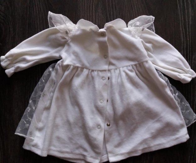 Платье нарядное для малышки, размер 68/74. Фото 2. Омск.