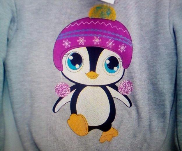 Джемпер теплый с пингвином. Фото 1. Белгород.