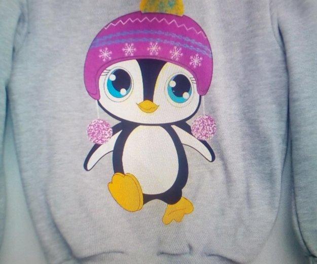 Джемпер теплый с пингвином. Фото 2. Белгород.