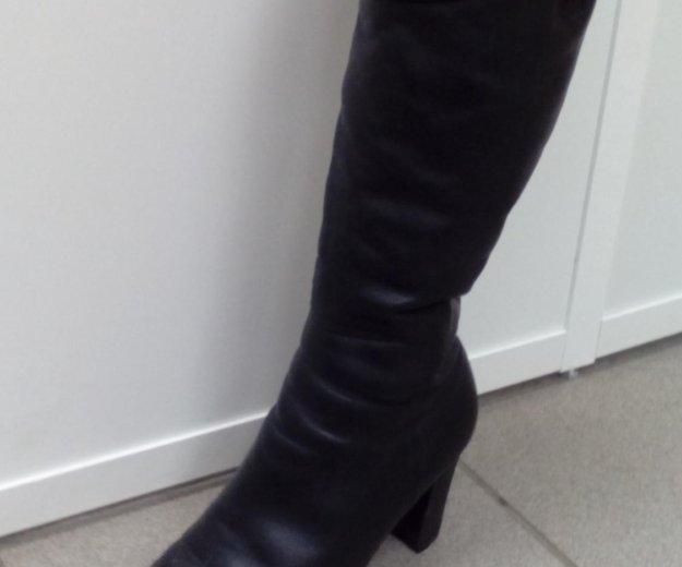 Продам кожаные сапоги в хорошем состоянии. Фото 1. Чебоксары.