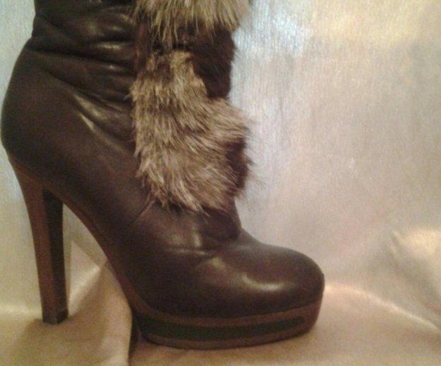Ботиночки кожаные на каблуке. Фото 2. Саратов.