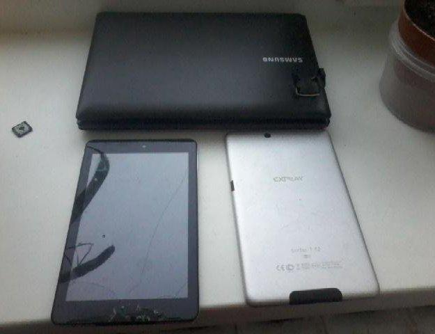 Планшеты и ноутбук. Фото 1. Сургут.