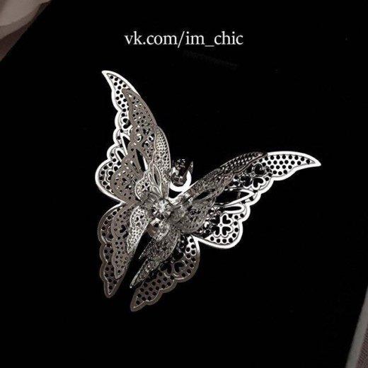 Подвеска бабочка. новая. серебрение. Фото 3. Санкт-Петербург.
