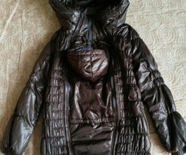 Куртка для беременных, слингокуртка, 3в1. Фото 3. Москва.