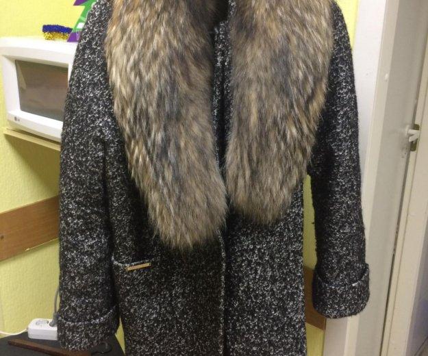 Зимнее пальто с натуральным мехом 👌🏻. Фото 2. Москва.