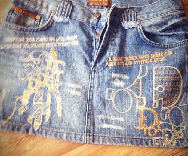 Dior джинсовая мини-юбка. Фото 1. Новосибирск.