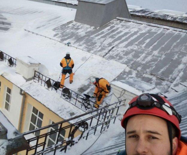 Промышленный альпинист. Фото 1. Москва.