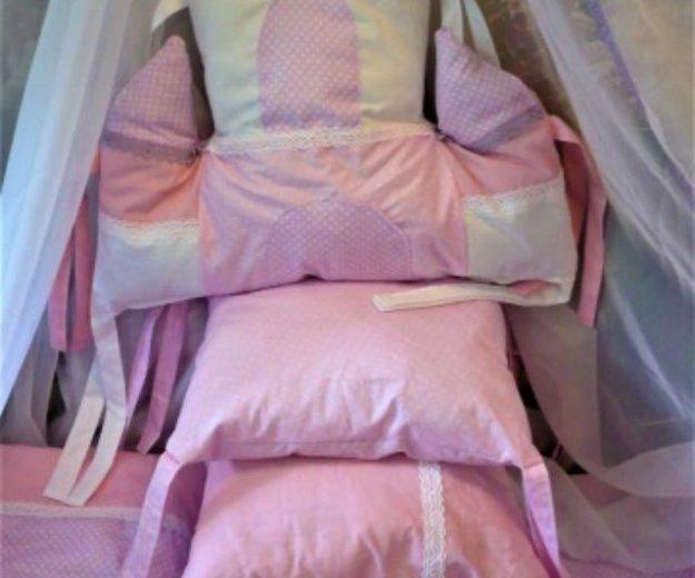 Комплект в кроватку новый 7 предметов. Фото 1. Динская.