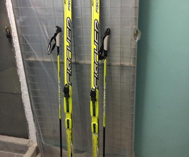 Лыжные ботинки, лыжи и палки fisher 🎿. Фото 2.