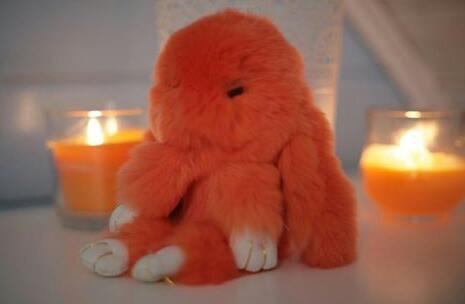 Брелок кролик из натурального меха. Фото 3. Москва.