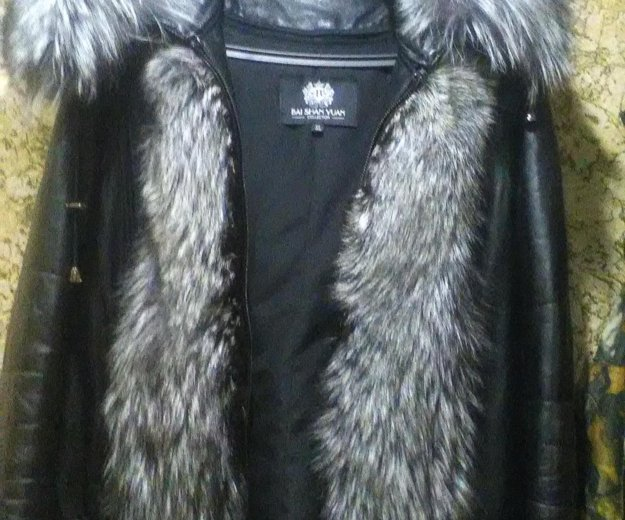 Куртка кожаная с чернобуркой. Фото 3. Екатеринбург.