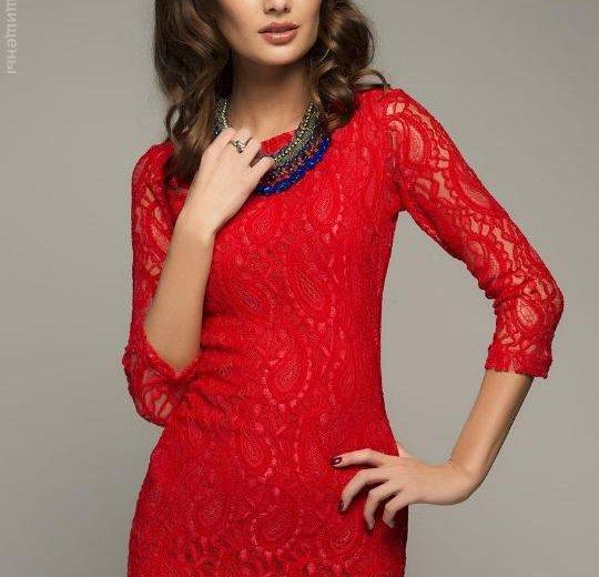 Платье красное кружевное. Фото 1. Курган.