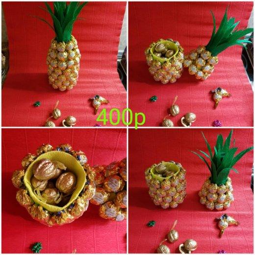 "Шкатулочка""ананас"" из конфет. Фото 1. Иркутск."