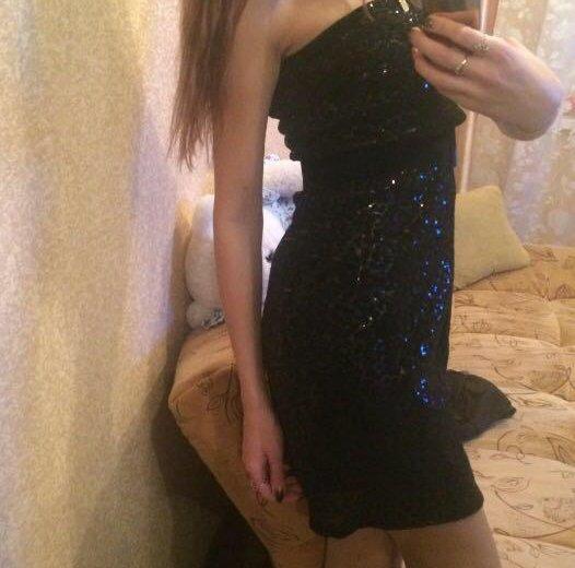 Платье чёрное в пайетках. Фото 2. Нижний Новгород.