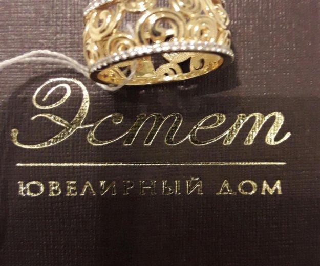 Кольцо из жёлтого золота с фианитами завод эстет. Фото 3. Москва.